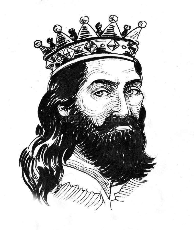 Ancient king royalty free illustration