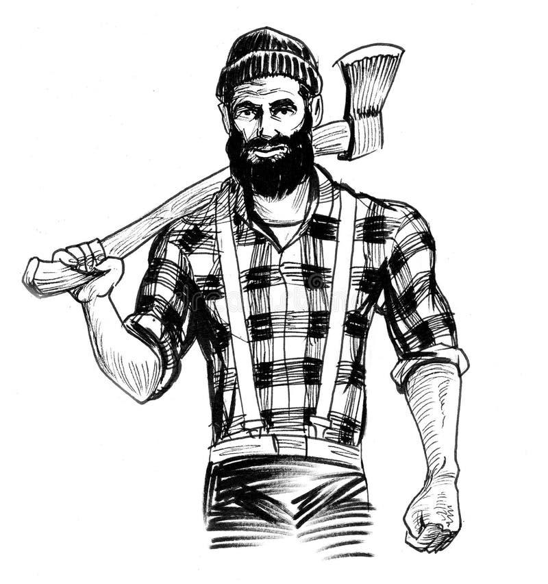 Canadian lumberjack royalty free illustration