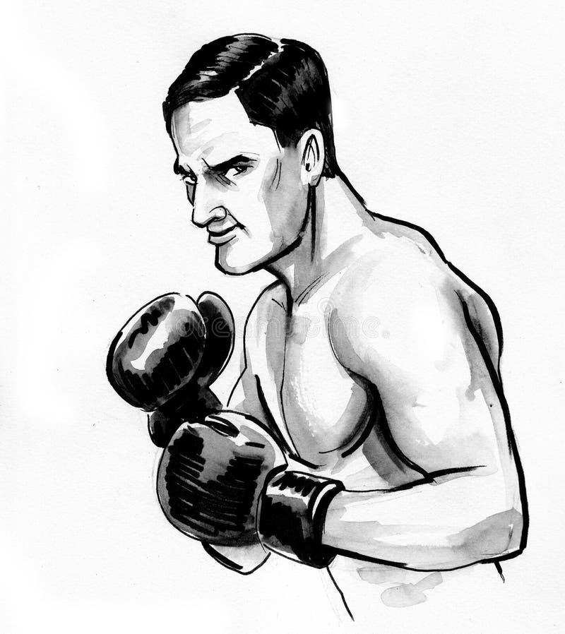 Boxing man vector illustration