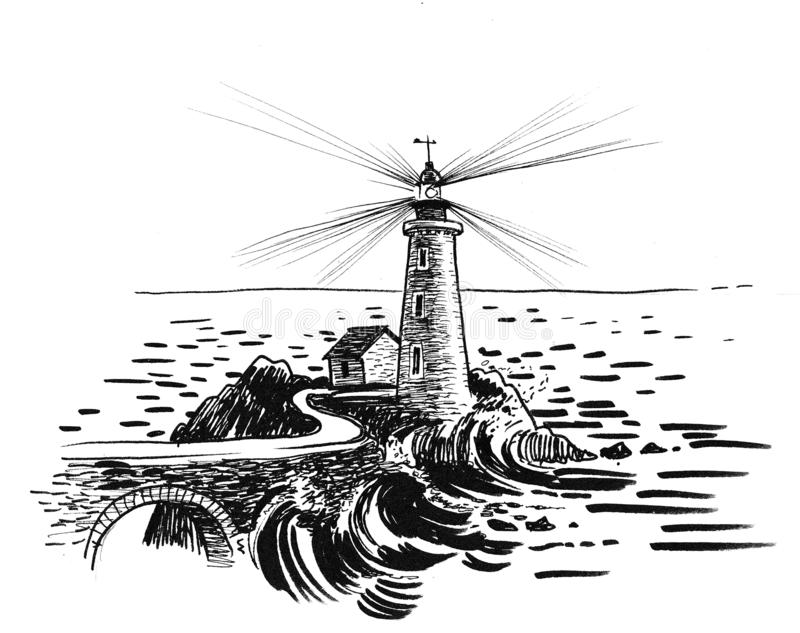 Drawing Lighthouse Stock Illustrations – 3,028 Drawing