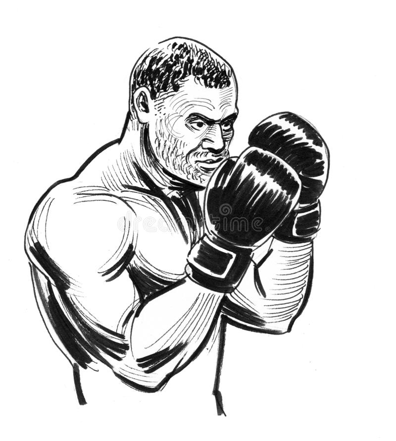 Strong boxer stock illustration