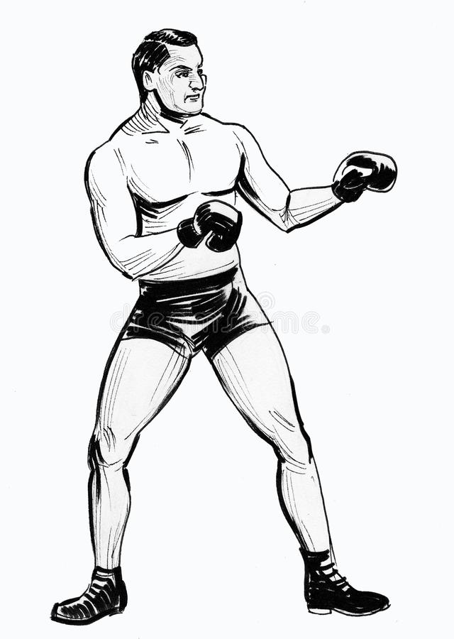 Boxing man royalty free illustration