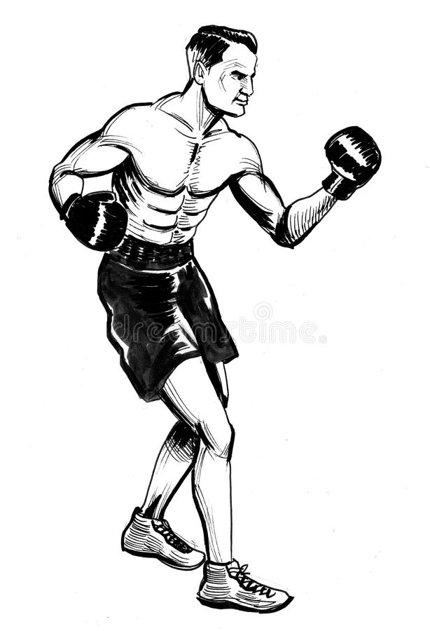 Retro boxer royalty free illustration
