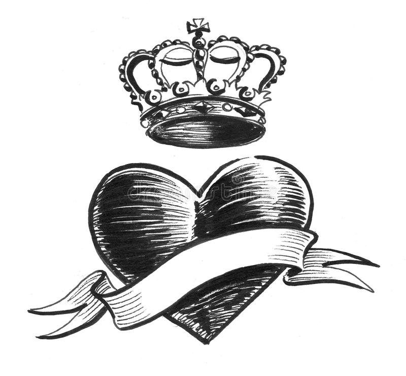 Royal heart vector illustration