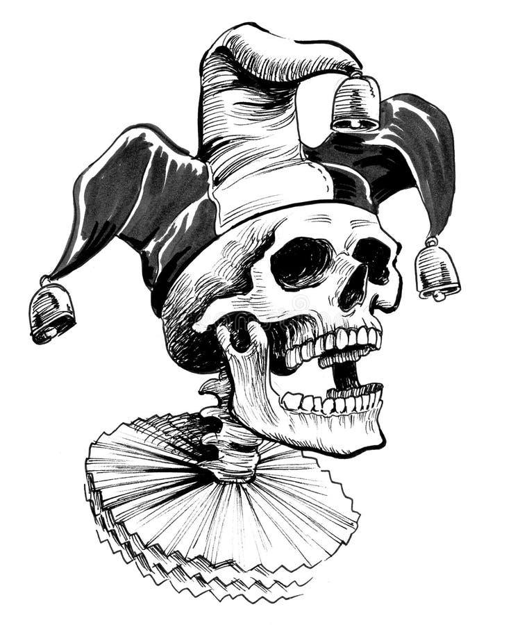 Dead jester royalty free illustration