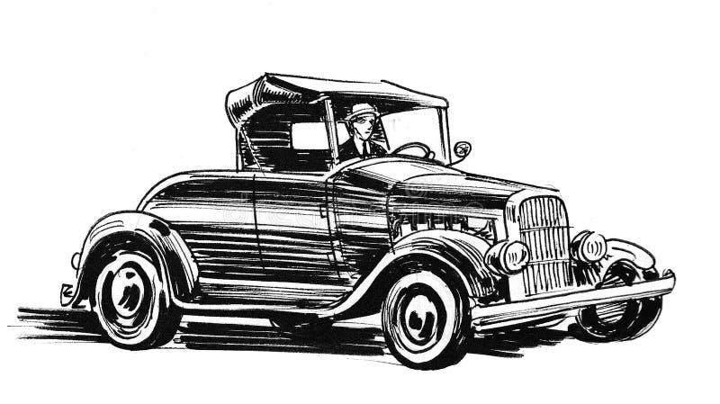 Retro car stock illustration