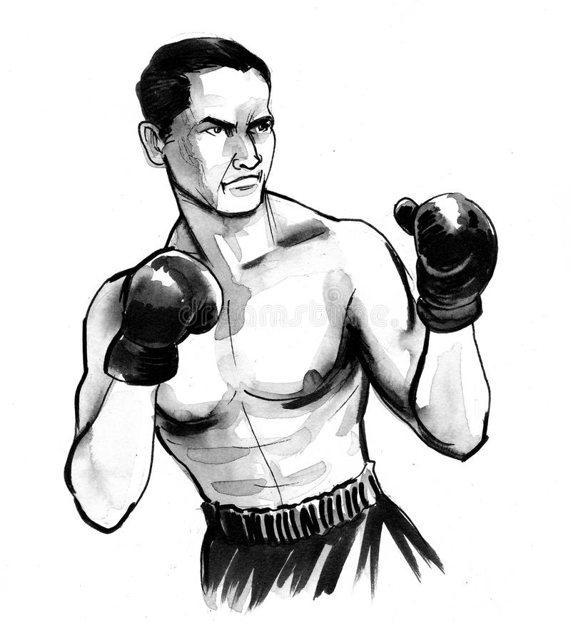 Boxing man vector illustration