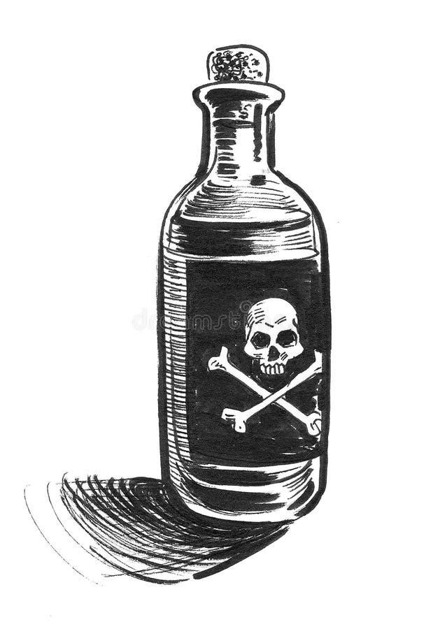 Bottle of poison vector illustration