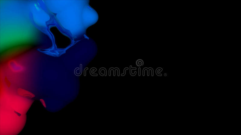 Ink Blob with Black Copy Space. 3D Illustration image of ink blobs with black copy space vector illustration