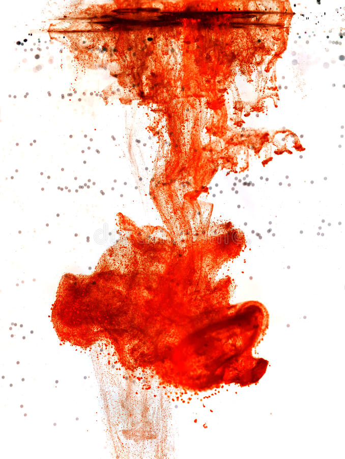 Ink of blood. Ink of the blood isolated royalty free stock image