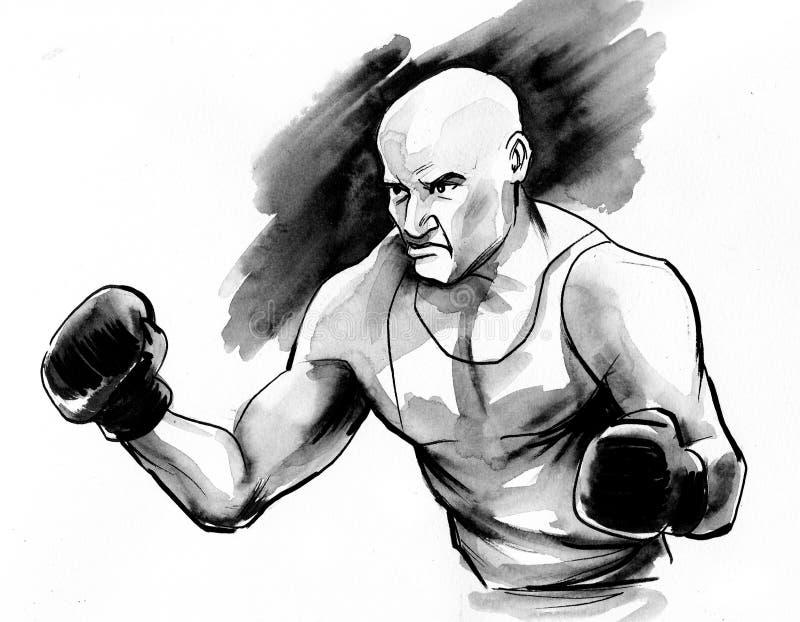 Ink boxer vector illustration