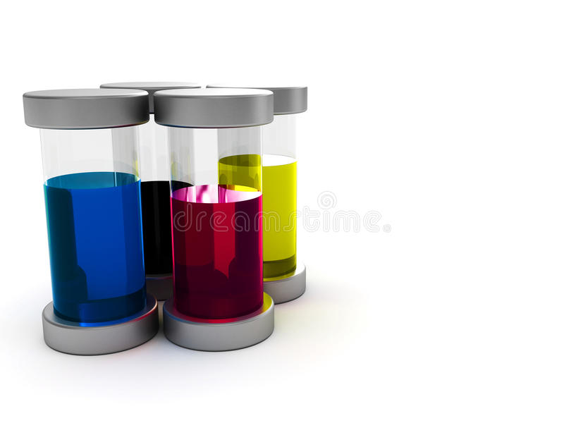 Download Ink containers stock illustration. Image of left, magenta - 10836913