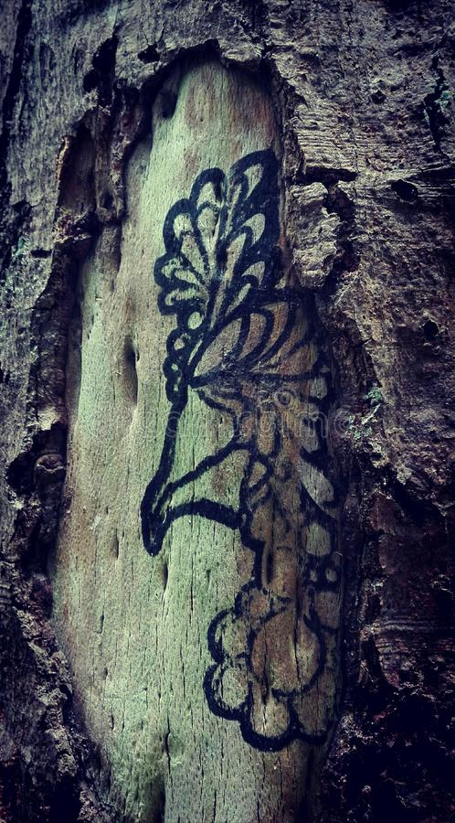 ink& x27; d drzewo obraz stock