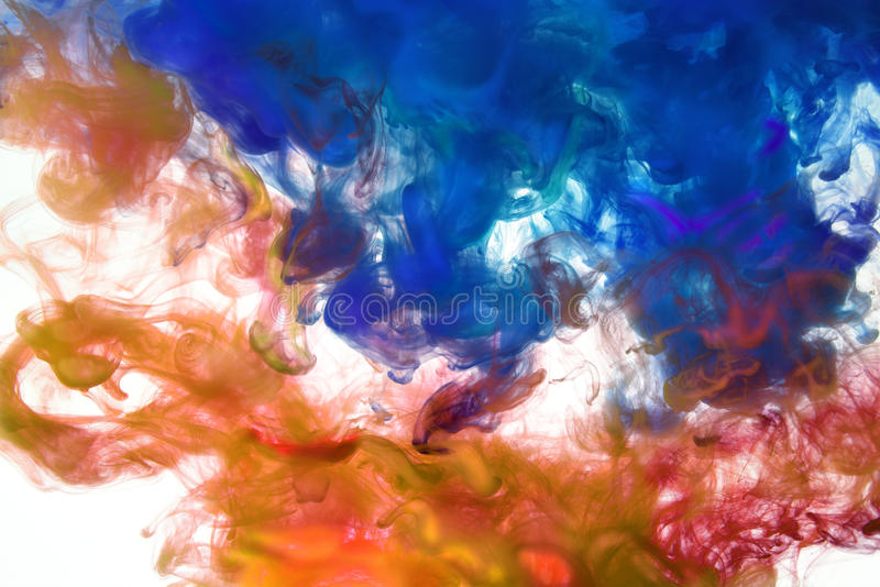Ink Dissolving in Water royalty free stock photo