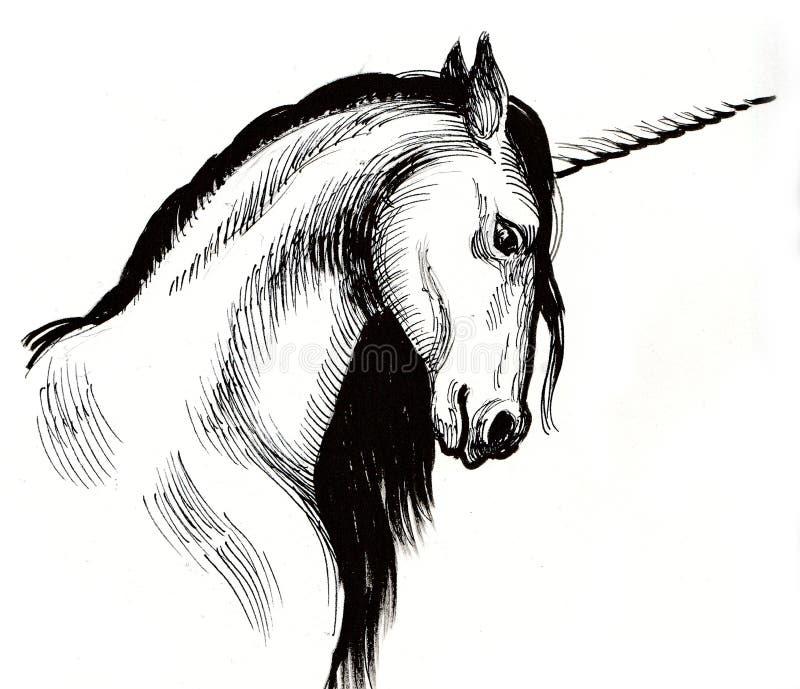 White Unicorn stock illustration