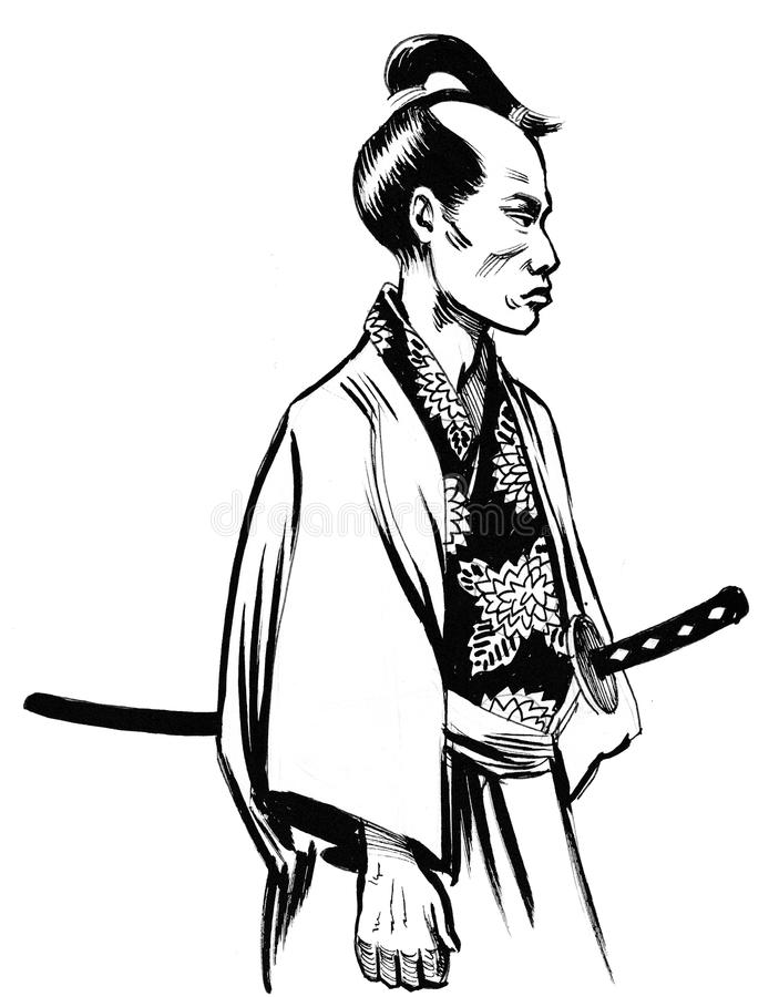 Download Samurai Warrior Stock Illustration Of Drawing