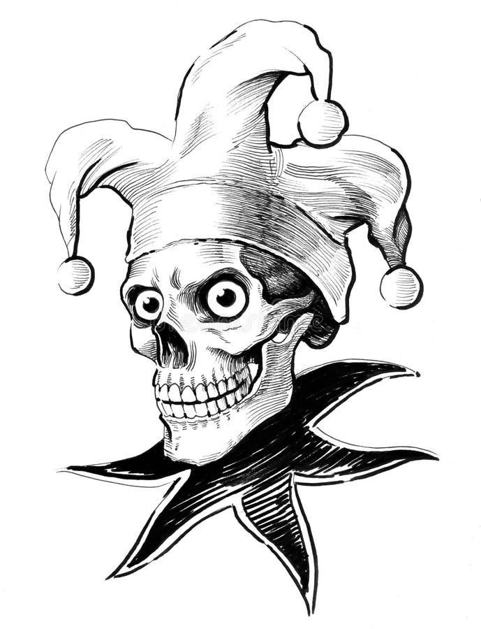 Jester skull vector illustration