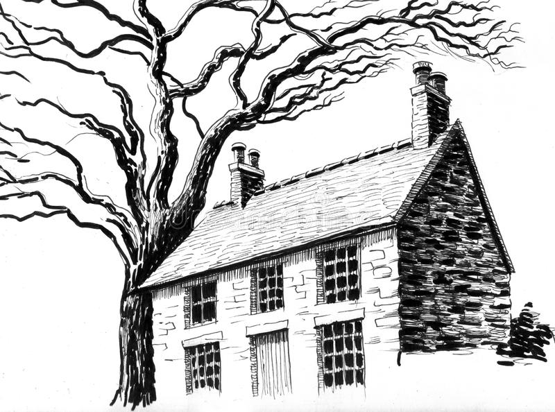 Old house vector illustration