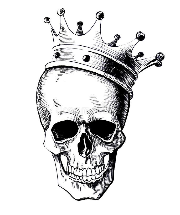 Dead king royalty free illustration