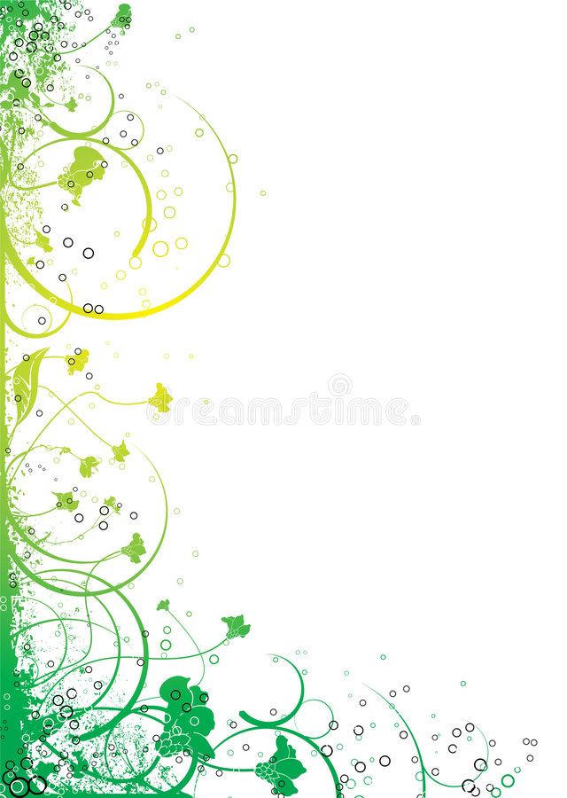 Ink Floral Flow Royalty Free Stock Photography