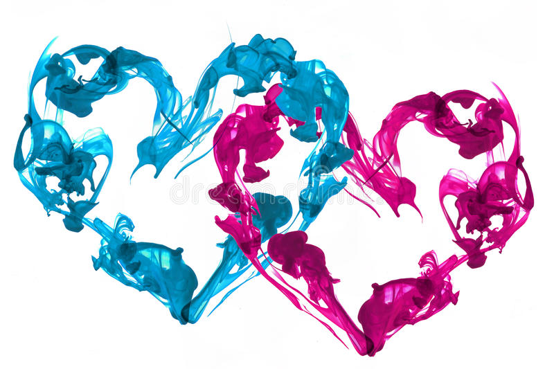 Ink hearts love royalty free stock image