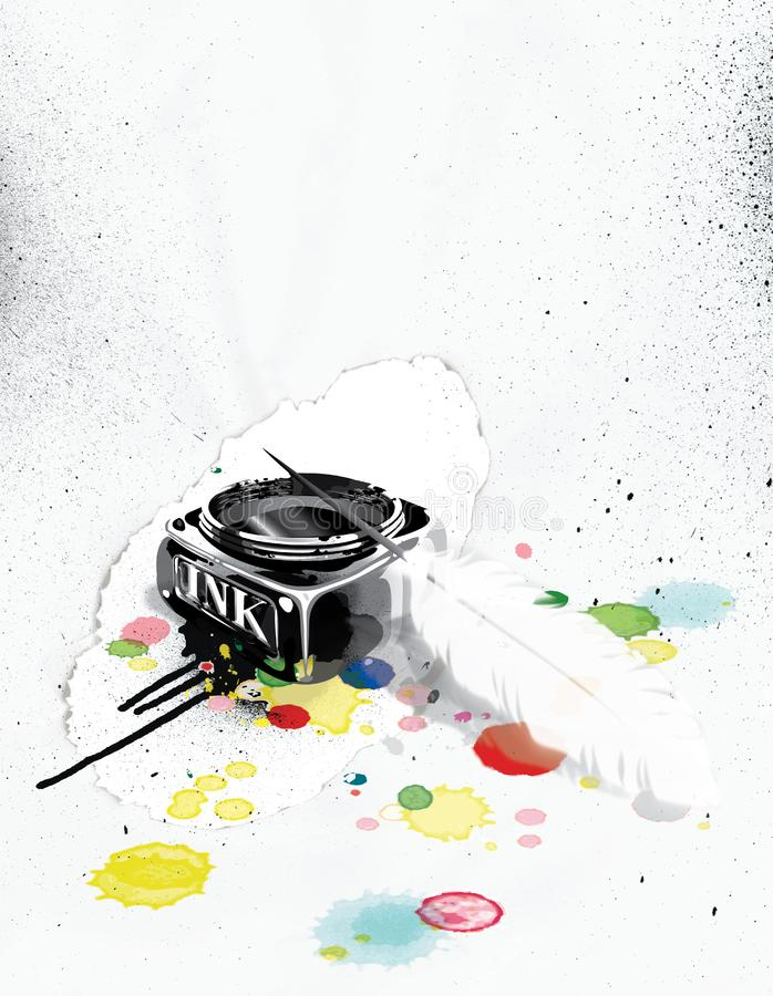 Ink illustration royalty free stock images