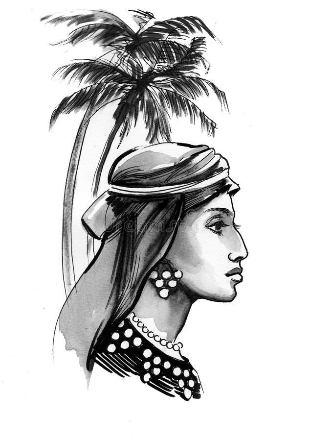 Arabic beauty royalty free illustration