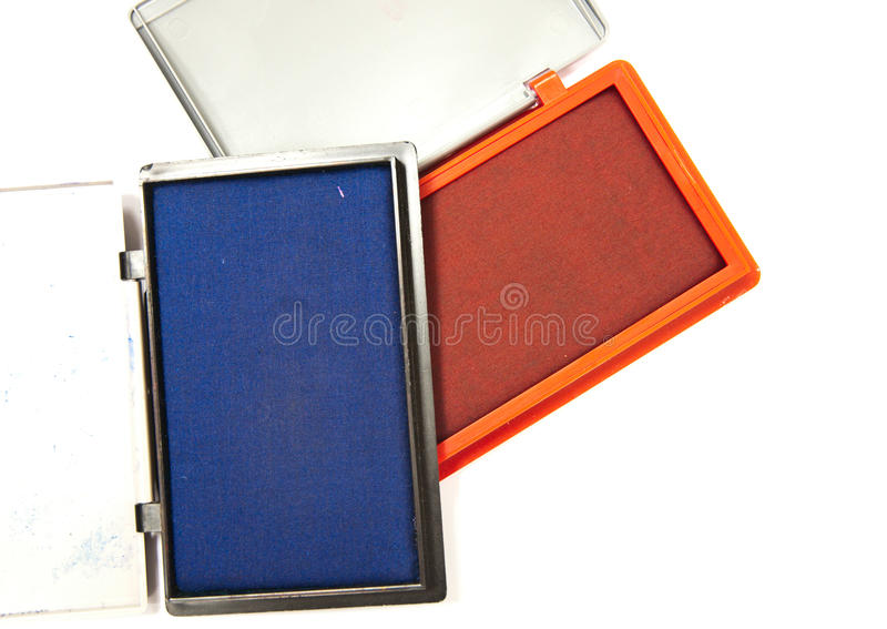 Ink pad. Ink for stamp, the equipment for using in office stock photo