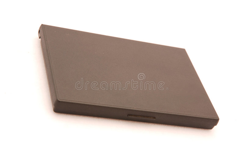 Ink pad. Details of a closed black ink pad stock image