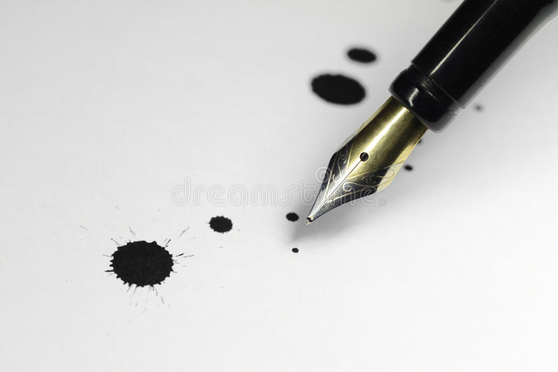 Ink pen stock photo