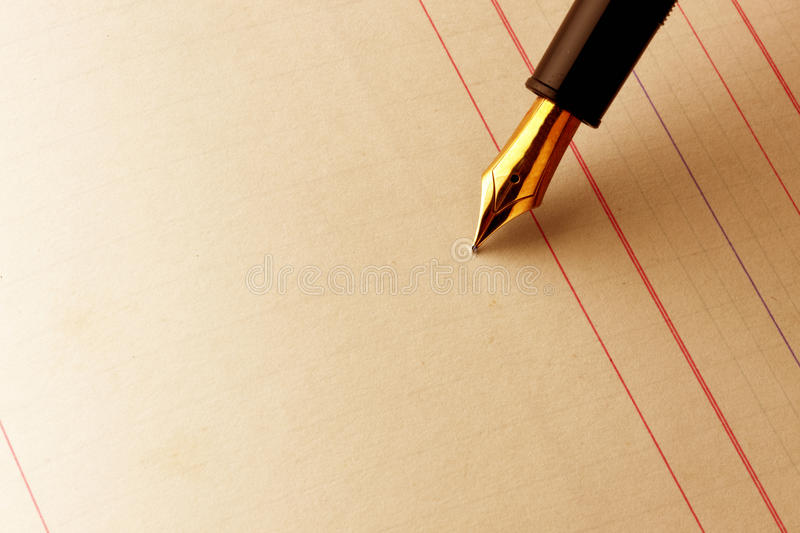 Download Ink Pen On Lined Paper Royalty Free Stock Photo - Image: 10133515