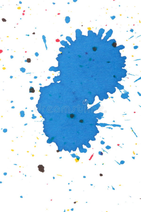 Ink splashes. On the white stock images