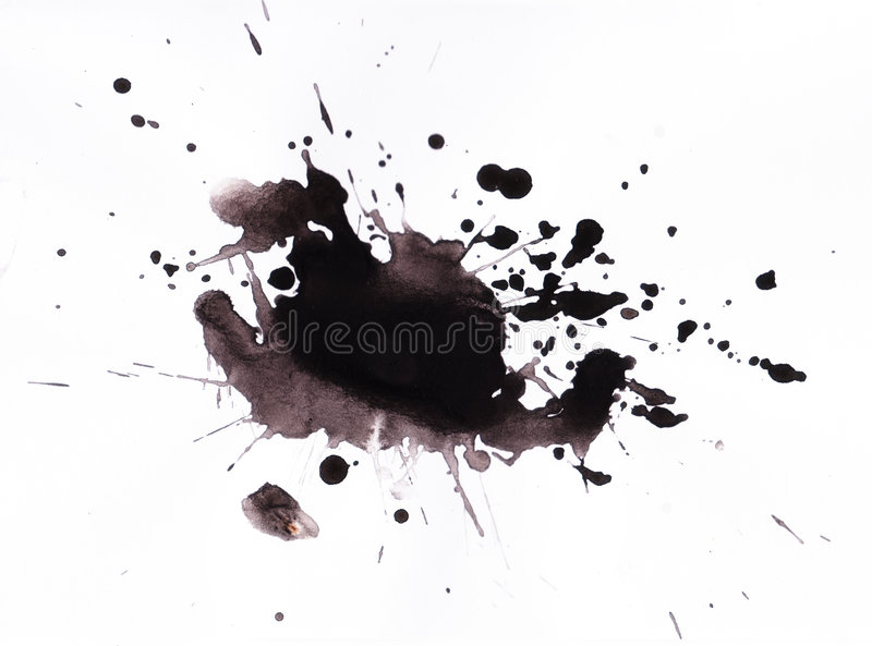 Ink splat royalty free illustration