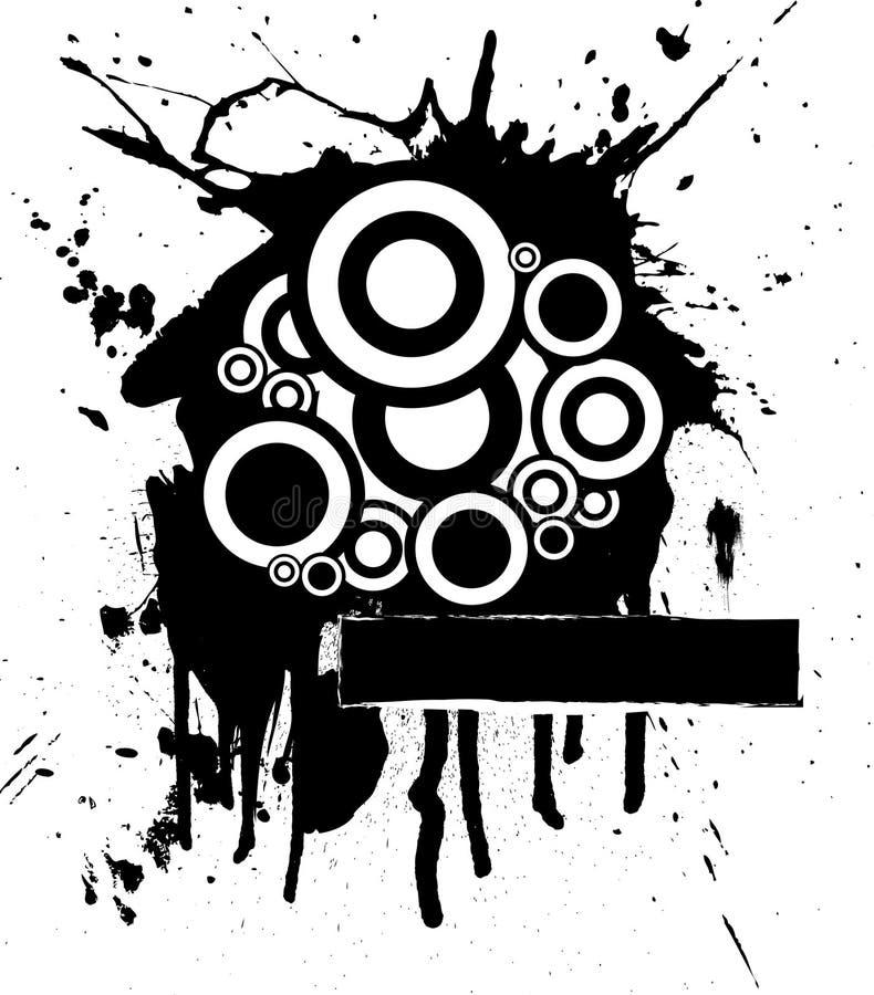 Ink splat circle royalty free illustration