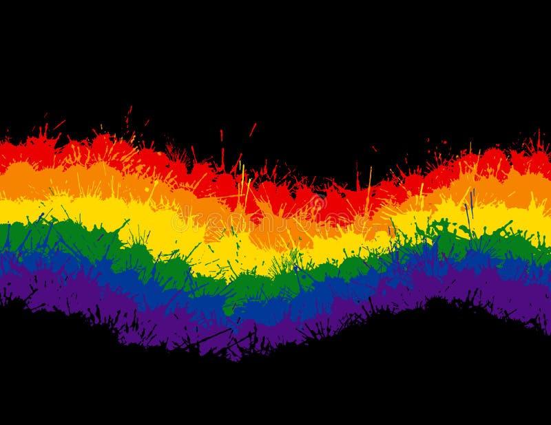 Download Ink Splat Rainbow stock vector. Image of orange, colorful - 16306287