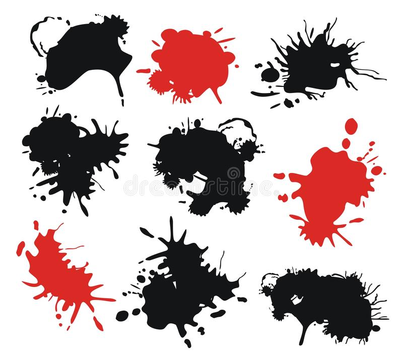Download Ink Splats stock vector. Image of abstract, blood, medical - 25313929