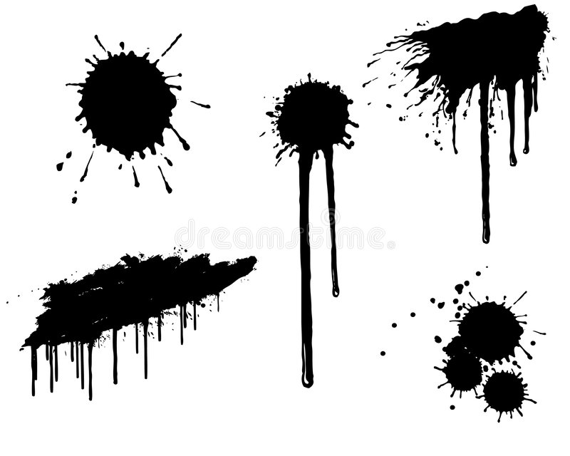 ink splatter stock vector illustration of grunge  design Paint Splat Vector Burst Vector