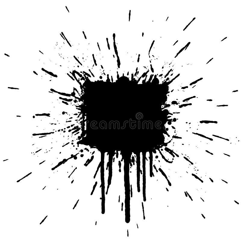Ink Splatter Explosion Design Element Stock Image