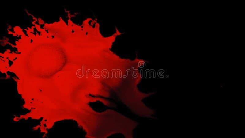 Ink Splatter Over Black Background stock photo