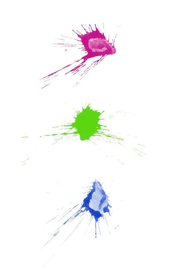 Ink splatters vector illustration