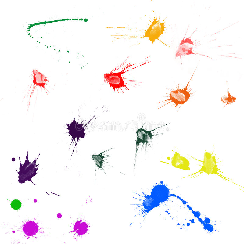 Ink splatters stock illustration