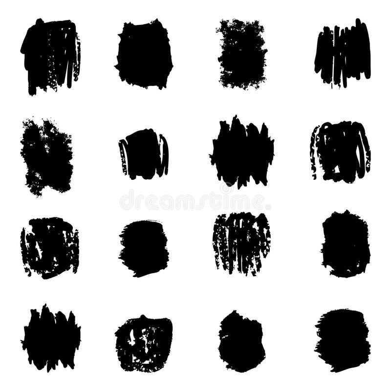 Ink splatters. Grunge design elements collection. Stylish grunge ink splits set. Design symbols Vector isolated vector illustration