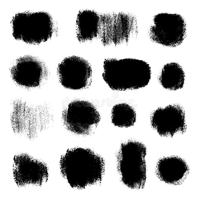 Ink splatters. Grunge design elements collection. Stylish grunge ink splits set. Design symbols Vector isolated stock illustration