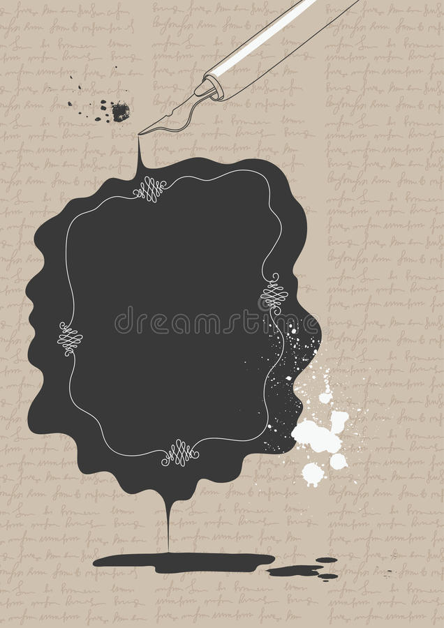 Download Ink Stain stock vector. Image of line, vignette, space - 23720464