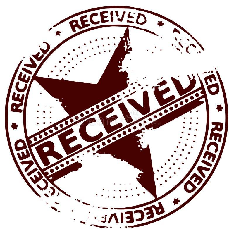 Grunge round rubber ink stamp RECEIVED vector illustration