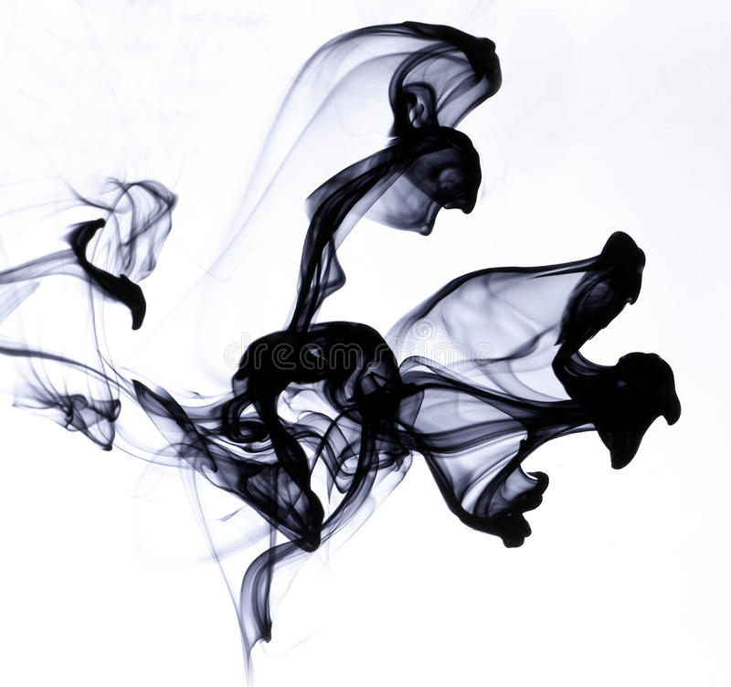 Ink in water. On white background