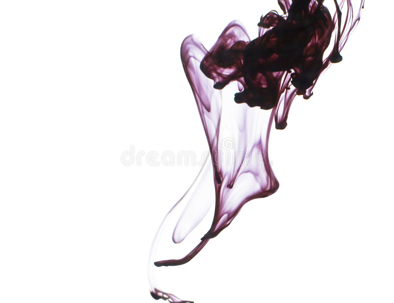 Ink in water stock image