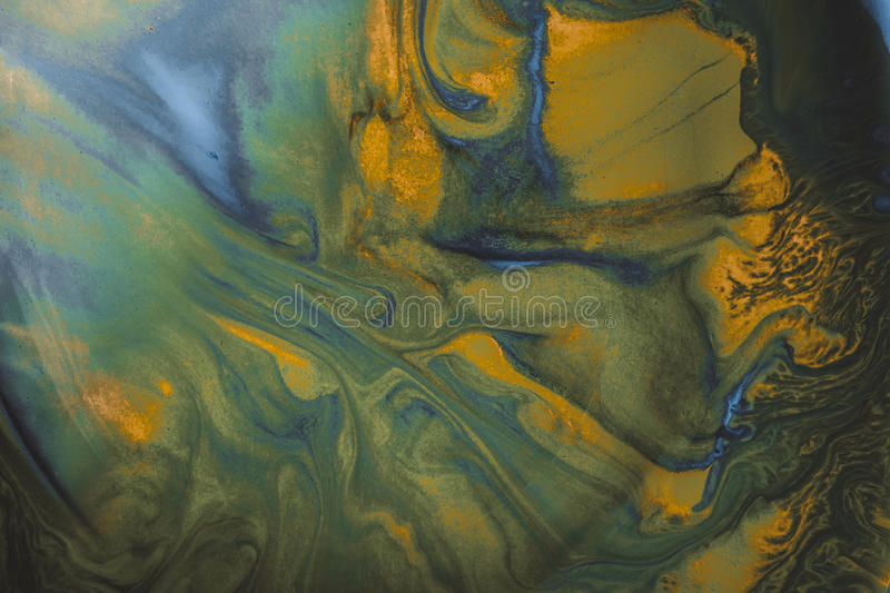 Ink in water. Abstract background. Ink swirling in water. Colorful stock illustration