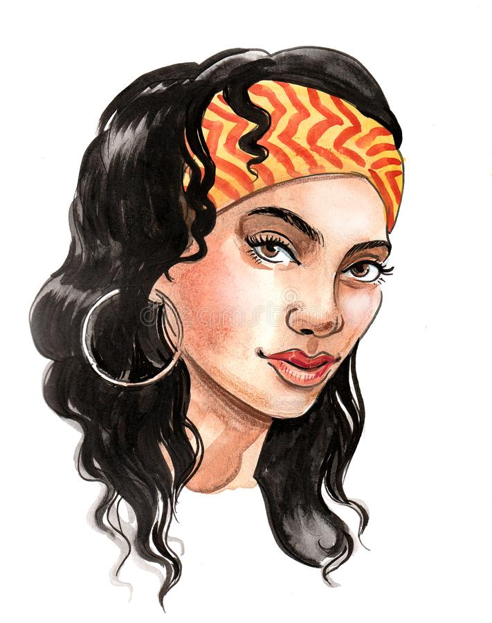 Beautiful brunette vector illustration