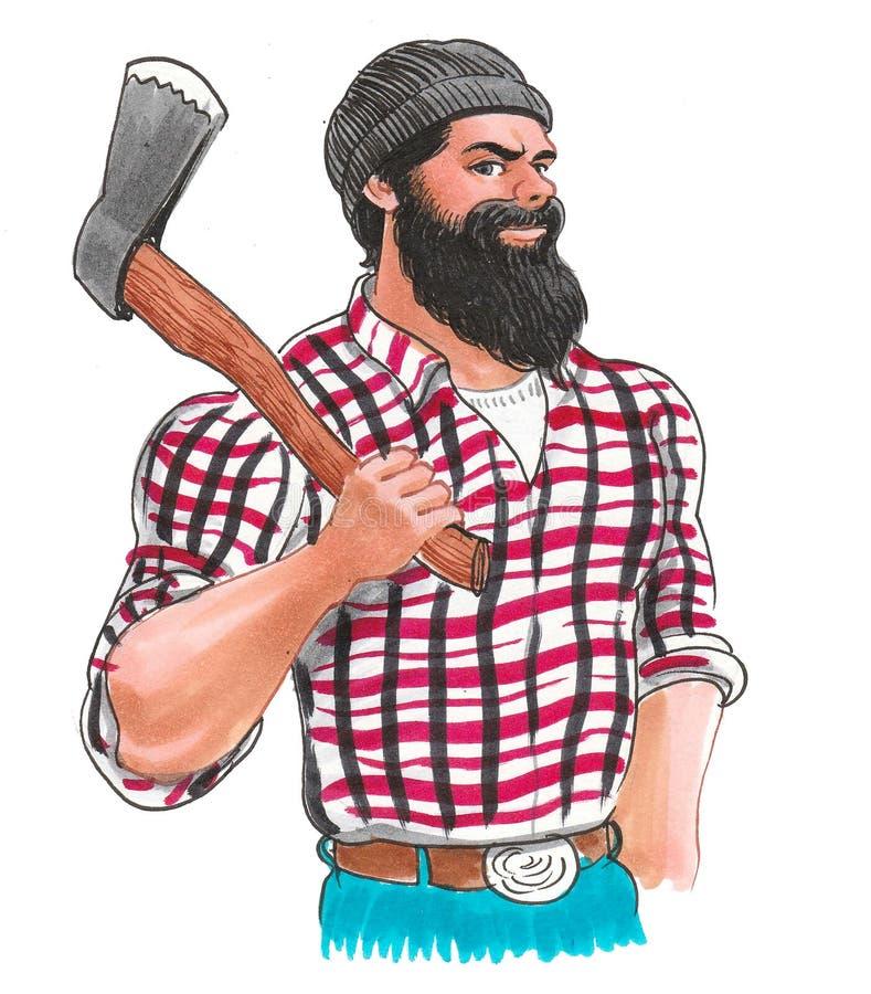 Canadian logger vector illustration